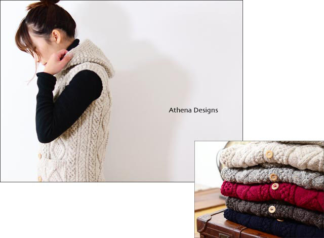 Athena Designs [アテナデザイン] HOODED VEST [0223WS] LADY\'S _f0051306_1572193.jpg