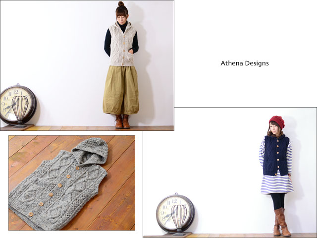 Athena Designs [アテナデザイン] HOODED VEST [0223WS] LADY\'S _f0051306_1572337.jpg
