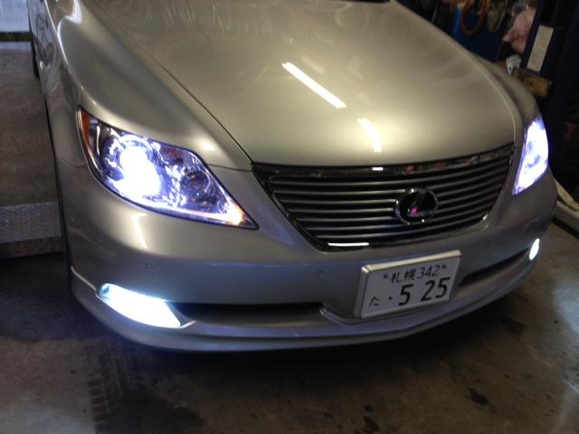 レクサス LS460 ヘッド フォグ HID ポジション ナンバー灯 LED_b0127002_10293365.jpg