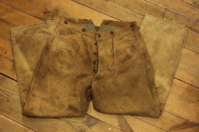 SPECIAL!! BROWN CANVAS WORK PANTS!_d0121303_1958342.jpg