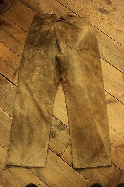 SPECIAL!! BROWN CANVAS WORK PANTS!_d0121303_19584987.jpg