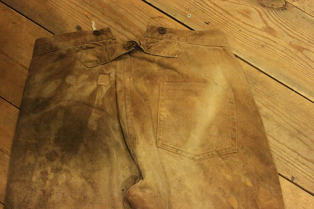 SPECIAL!! BROWN CANVAS WORK PANTS!_d0121303_19592027.jpg