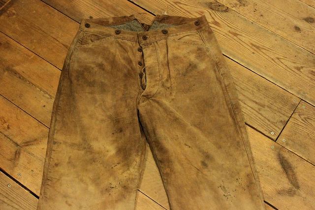 SPECIAL!! BROWN CANVAS WORK PANTS!_d0121303_200354.jpg