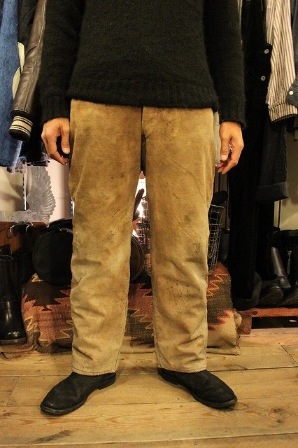SPECIAL!! BROWN CANVAS WORK PANTS!_d0121303_2075027.jpg