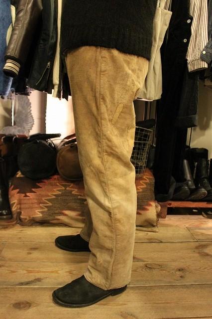 SPECIAL!! BROWN CANVAS WORK PANTS!_d0121303_2075254.jpg
