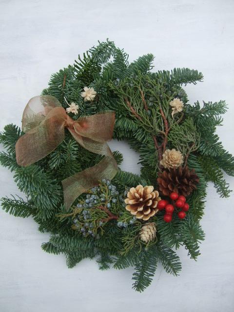 オークリーフ(クリスマスリース)_f0049672_17105716.jpg