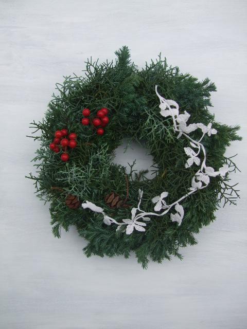オークリーフ(クリスマスリース)_f0049672_17111410.jpg
