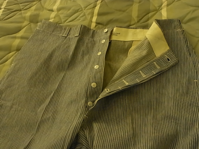 40\'S~デッドストック Lee ランダムヒッコリーストライプwork pants! _c0144020_11395663.jpg