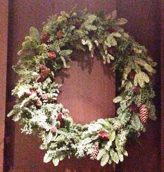 フラワーアーティストCHAJINさんのクリスマスリース_f0159629_19333220.jpg