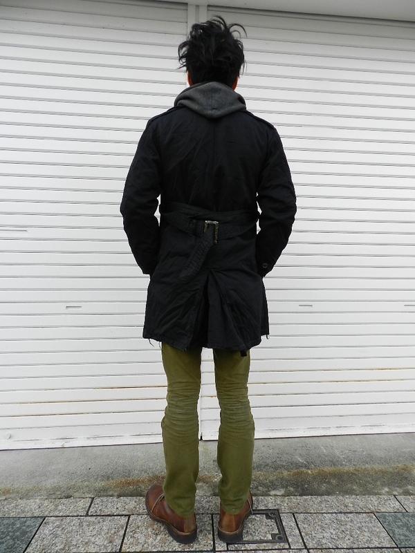 U.S. army cotton trench coat squat version snaps_f0226051_2129241.jpg