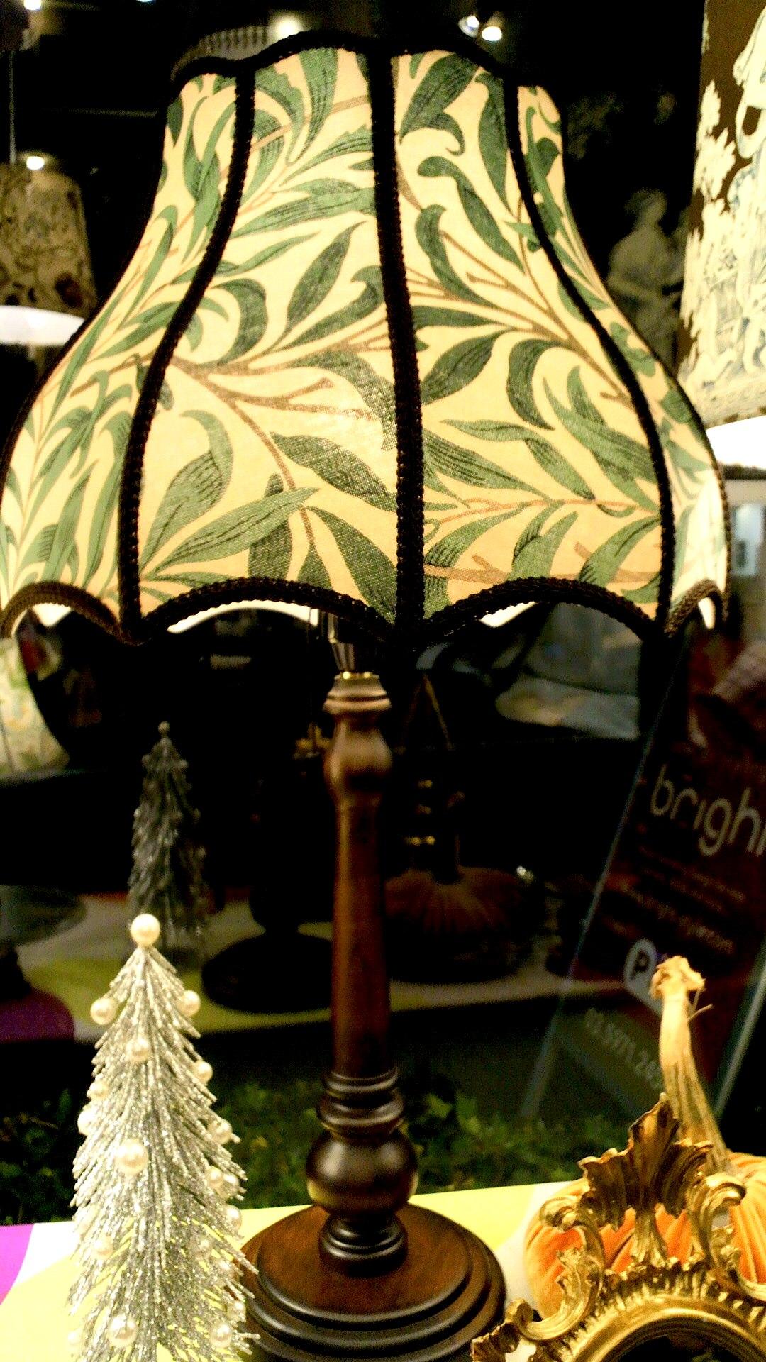 ウィリアムモリスのテーブルランプを作りました。_c0157866_1954248.jpg