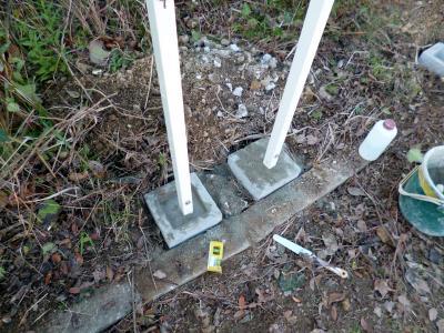 フェンス設置工事_c0092689_17315581.jpg