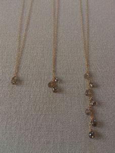 ブラウンダイヤモンド&グレーダイヤモンドのネックレス&ピアス_b0278339_21543213.jpg