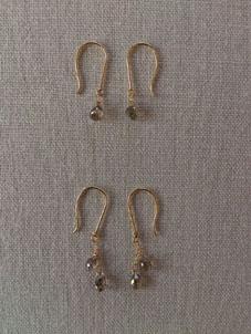 ブラウンダイヤモンド&グレーダイヤモンドのネックレス&ピアス_b0278339_21581928.jpg
