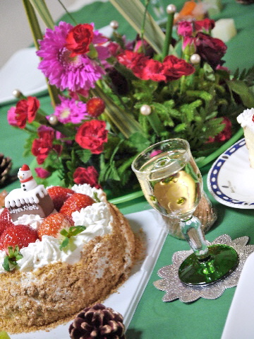 12月のすぴかパン教室 :クリスマスのテーブル_e0086864_21254358.jpg