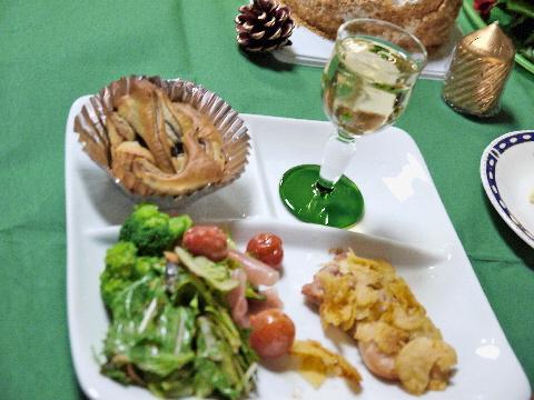 12月のすぴかパン教室 :クリスマスのテーブル_e0086864_21261055.jpg