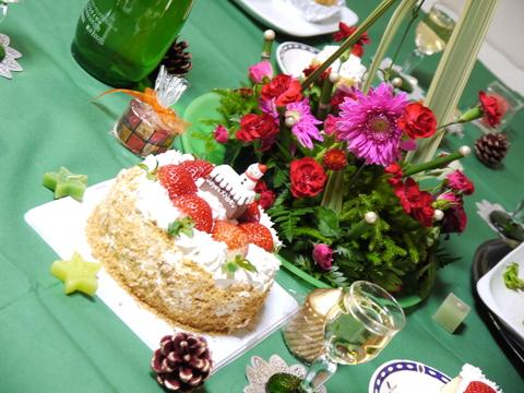 12月のすぴかパン教室 :クリスマスのテーブル_e0086864_21265145.jpg