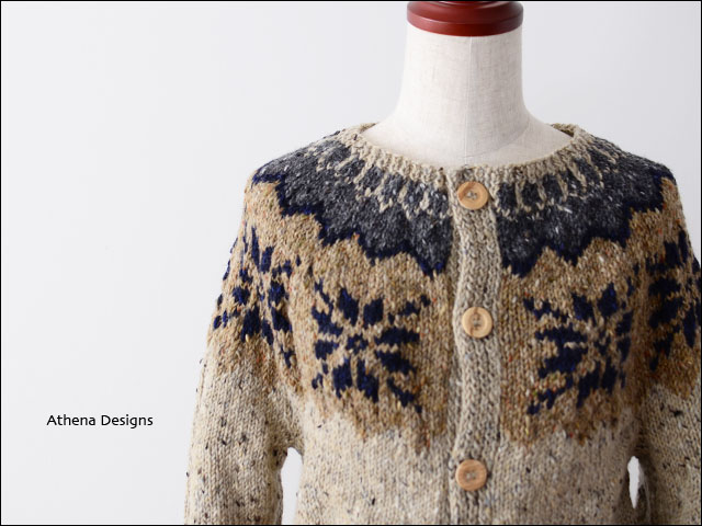 Athena Designs [アテナデザイン] BOX LUMBER SNOW FLAKE CREW CARDIGAN [0066] _f0051306_15514398.jpg