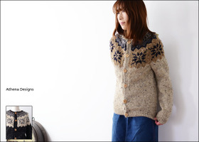 Athena Designs [アテナデザイン] BOX LUMBER SNOW FLAKE CREW CARDIGAN [0066] _f0051306_15514450.jpg