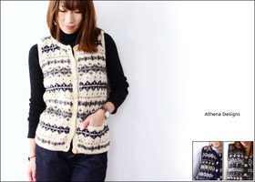 Athena Designs [アテナデザイン] BOX LUMBER SNOW FLAKE CREW CARDIGAN [0066] _f0051306_19201077.jpg