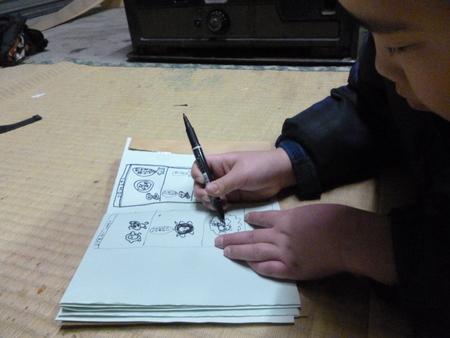 オシロイ花の種と絵本制作_c0217044_084542.jpg