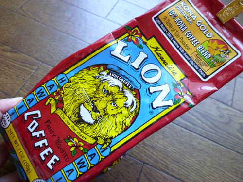LION COFFEE KONA GOLD PREMIUM COFFEE 10% KONA COFFEE BLEND_c0152767_2211673.jpg
