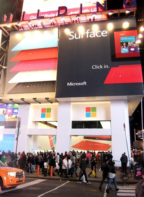 Microsft初のニューヨークのお店、Apple Storeのパクリと叩かれる_b0007805_12551338.jpg