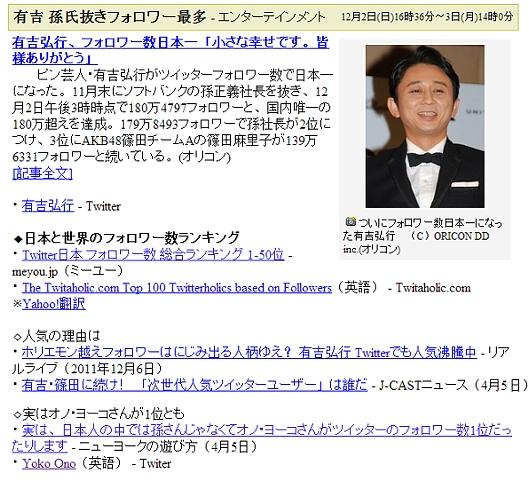 実は、日本人の中では孫さんじゃなくてオノ・ヨーコさんがツイッターのフォロワー数1位だったりします_b0007805_8291321.jpg