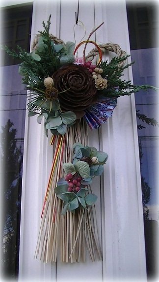 バンビちゃんリース&お正月飾りパート3_c0207719_1424143.jpg