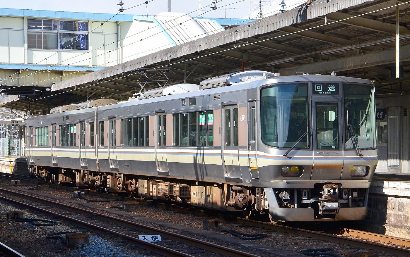 広島出発西条へ。JR広島でV車の響き、今更ですが新鮮 瀬野到着 広島223系本線試運転