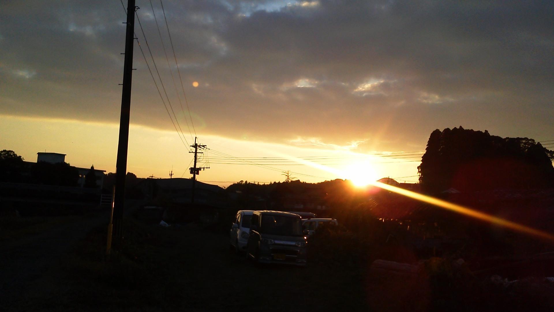 夕陽煌めいて・・☆_a0174458_0195454.jpg