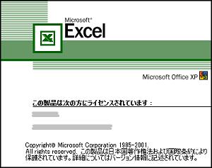 マイクロソフト・エクセル (Office XP)