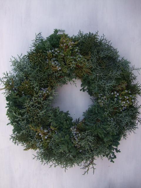 オークリーフ(クリスマスのオーダーリース)_f0049672_1615488.jpg