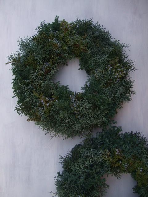 オークリーフ(クリスマスのオーダーリース)_f0049672_16182193.jpg