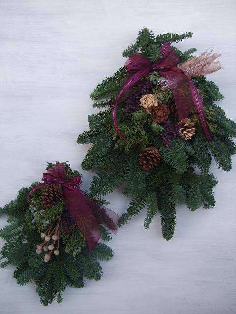 オークリーフ(クリスマスのオーダーリース)_f0049672_16213145.jpg