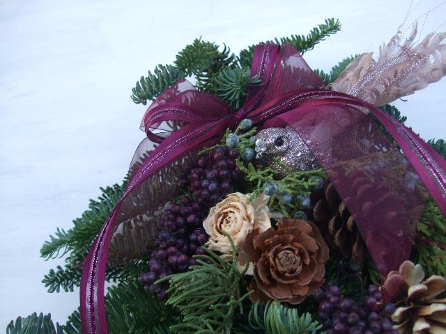 オークリーフ(クリスマスのオーダーリース)_f0049672_16214154.jpg