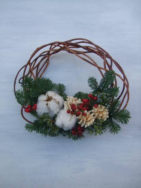 オークリーフ(クリスマスのオーダーリース)_f0049672_1626272.jpg