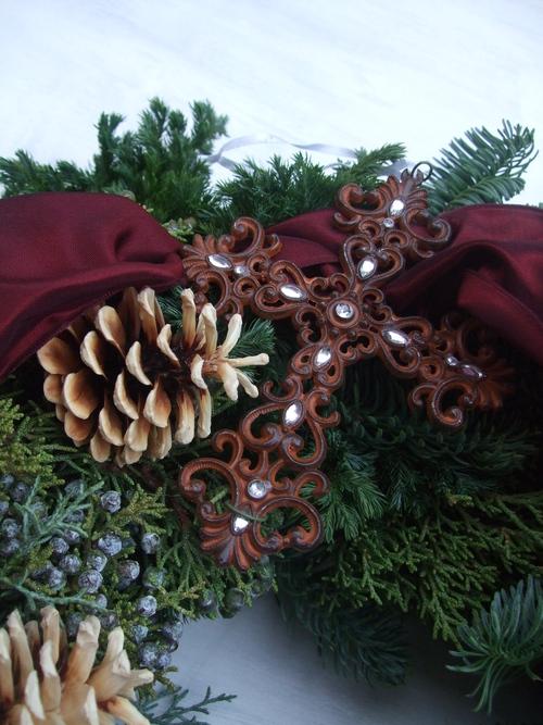 オークリーフ(クリスマスのオーダーリース)_f0049672_16283423.jpg