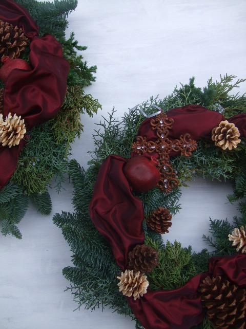 オークリーフ(クリスマスのオーダーリース)_f0049672_1628424.jpg