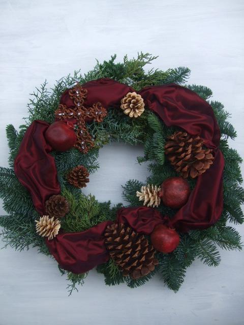 オークリーフ(クリスマスのオーダーリース)_f0049672_16285833.jpg