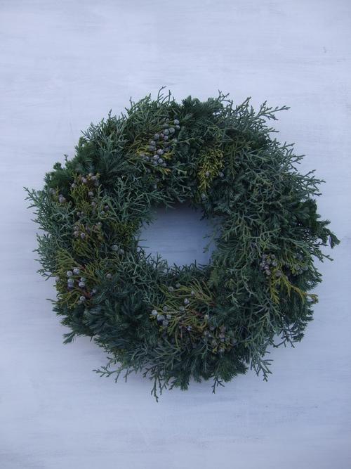 オークリーフ(クリスマスのオーダーリース)_f0049672_16364492.jpg