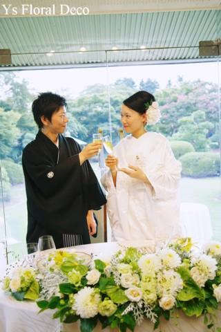 和装に合わせるヘッドドレス 白いシャクヤクをたっぷりと_b0113510_16323170.jpg