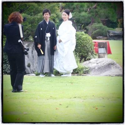 和装に合わせるヘッドドレス 白いシャクヤクをたっぷりと_b0113510_16331687.jpg