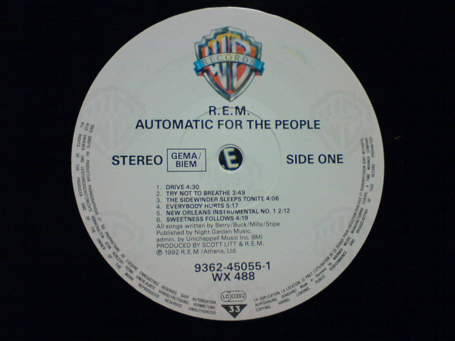 Automatic For The People / R.E.M._c0104445_225534100.jpg
