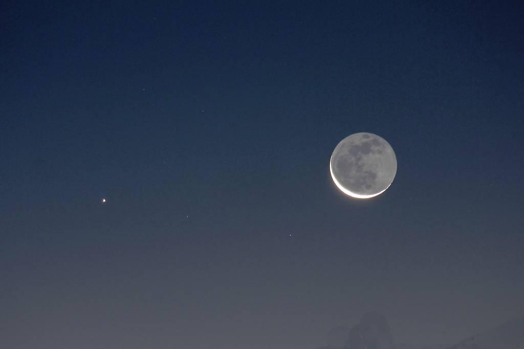 電線ハギマシコ/水星・月が大接近/氷点下5度_b0024798_12452785.jpg