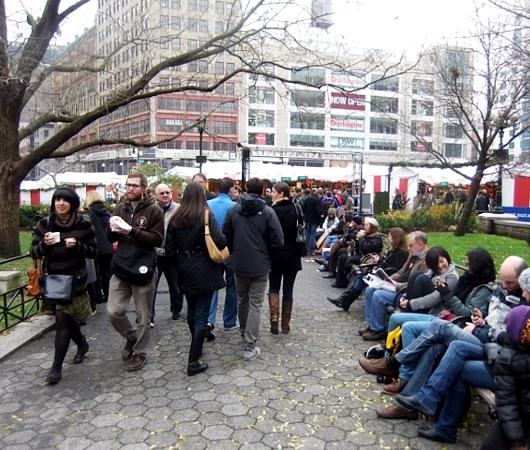 毎年恒例、NY ユニオン・スクエアのホリデー・マーケット_b0007805_5461790.jpg