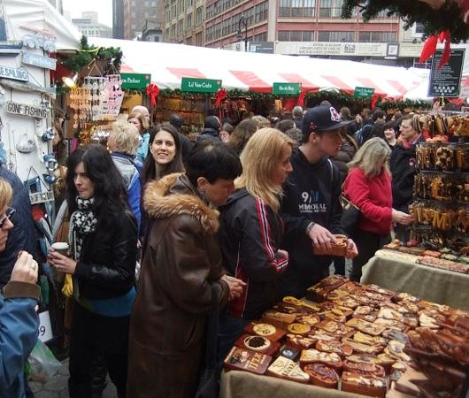 毎年恒例、NY ユニオン・スクエアのホリデー・マーケット_b0007805_5493290.jpg