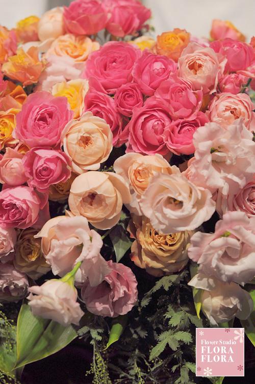 1.5次会 お二人のメインテーブル装花 to 恵比寿イーストギャラリー_a0115684_1747064.jpg