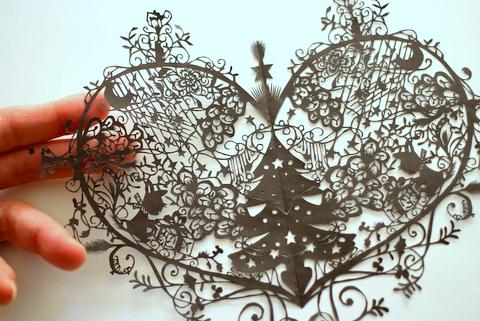ハートのクリスマスツリー A Serene Life