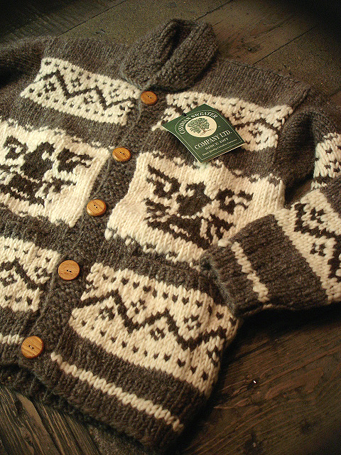 NEW : CANADIAN SWEATER COMPANY [Cowichan Sweater] !!_a0132147_23472137.jpg